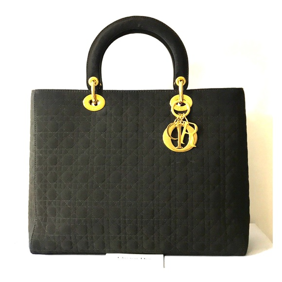 Dior Handbags - CHRISTIAN DIOR Large Lady Bag